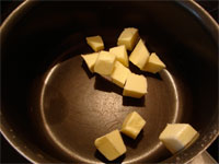 Butter in saucepan