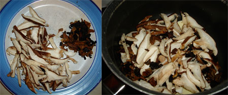 Mushrooms, sliced, sautéed