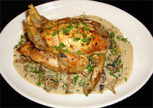Chicken with Wild Mushrooms & Garlic