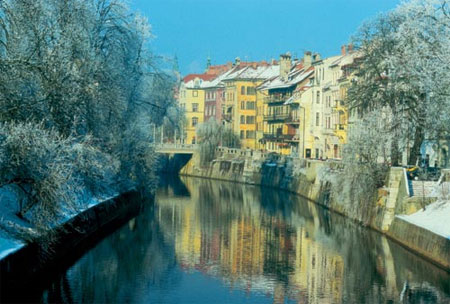 Ljubljana in winter ; Photo Credit B. Bajželj