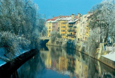 Ljubljana in winter ; Photo Credit B. Bajželj