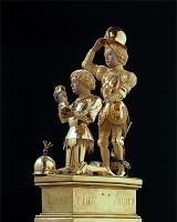 Reliquary of Charles the Bold Gerard Loyet Lille, around 1467/71 gold, silver, enamel Liege, Trésor de la Cathédrale