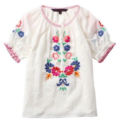 French Connection Hungarian Floral Top