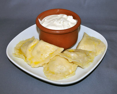 Pierogi with Smetana, Tesco