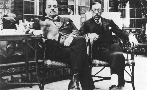 Serge Diaghilev and Igor Stravinsky