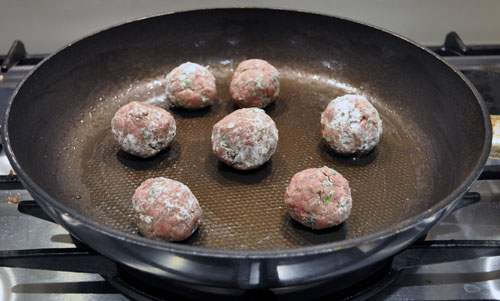 Russian Beef Meatballs in Sour Cream