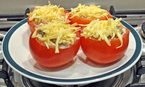 Russian Zakuski / закуски mushroom stuffed tomatoes