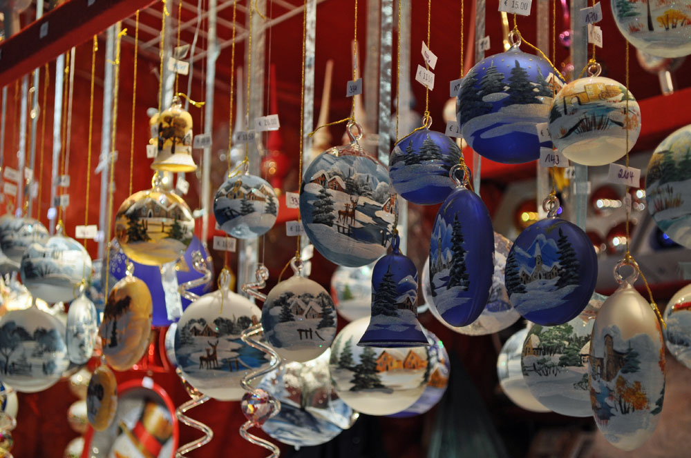 Decorations for Sale at Marienplatz Market