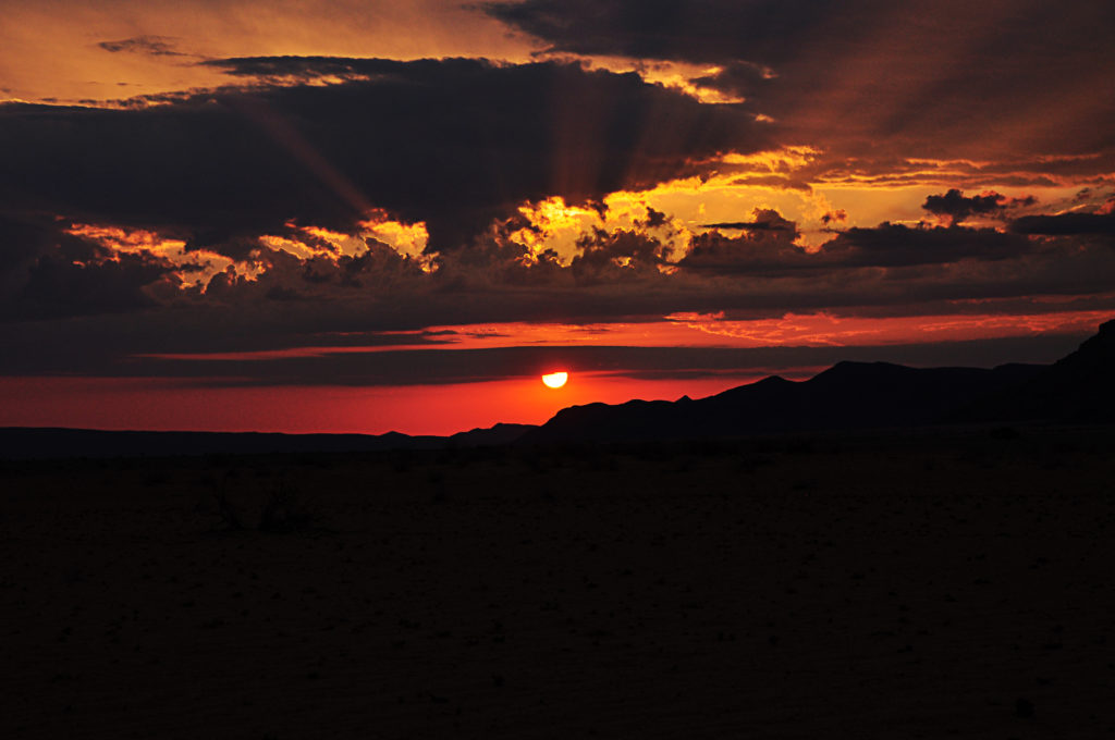 Sunset at Sossusvlei Desert Lodge, Namibia June 2016